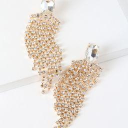 Gilda Gold Rhinestone Statement Earrings   Lulus (US)
