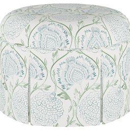 Liza Skirted Ottoman, Floral Sage | One Kings Lane
