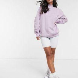 Stradivarius oversized sweatshirt in lilac | ASOS (Global)