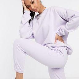 ASOS DESIGN tonal co-ord oversized sweatshirt in lilac | ASOS (Global)