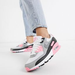 Nike Air Max 90 white and pink sneakers | ASOS (Global)