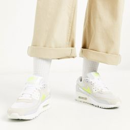 Nike Air Max 90 trainers in white and yellow | ASOS (Global)