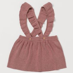 Baby Exclusive. Skirt in soft, fine-knit organic cotton fabric with ruffle-trimmed straps crossed... | H&M (US)