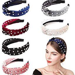 InnoGear Headbands for Women, 6 Pack Velvet Wide headband Knot Turban Headbands Vintage Hairband ... | Amazon (US)