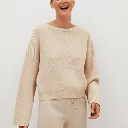 Ribbed knit sweater | MANGO (US)
