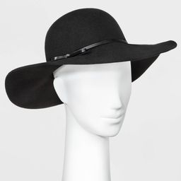 Women's Floppy Hat - A New Day Black One Size   Target