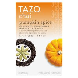 Tazo Chai Pumpkin Spice Tea Bags Black Tea 20 ct | Walmart (US)