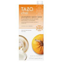 Tazo Chai Pumpkin Spice Latte, Tea Concentrate, 32 Oz | Walmart (US)
