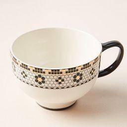 Bistro Tile Mugs, Set of 4 By Anthropologie in Black Size S/4 mug/cu | Anthropologie (US)