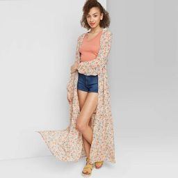 Women's Floral Print Long Sleeve Tiered Duster Kimono - Wild Fable™   Target