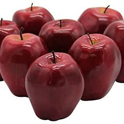 YOFIT Artificial Apple Fake Fruit for Home Kitchen Decoration,8 Pack | Amazon (US)