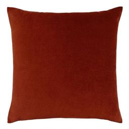 Cognac Brown Velvet Throw Pillow   World Market