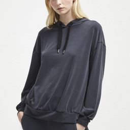 Washed Cupro Jersey Hoodie   French Connection (UK)