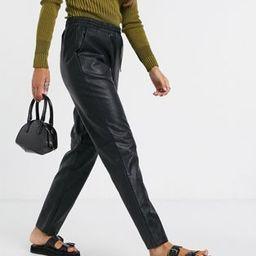Vila vegan leather joggers in black | ASOS (Global)