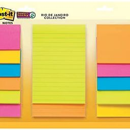 Post-it Super Sticky Notes, Assorted Sizes, 13 Pads, 2x the Sticking Power, Rio de Janeiro Collec... | Amazon (US)