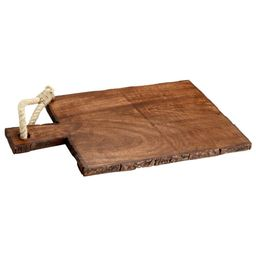 Mascot Hardware Rectangle Wooden Cutting Board with Tied Rope   The Home Depot