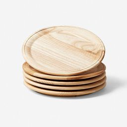 Farmhouse Pottery Crafted Wooden Plates, Natural (set of 4)   Lulu and Georgia