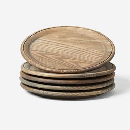 Farmhouse Pottery Crafted Wooden Plates, Grey (set of 4)   Lulu and Georgia