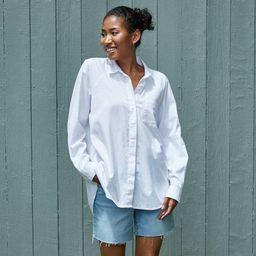 Women's Long Sleeve Button-Down Boyfriend Shirt - Universal Thread™ True White | Target