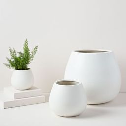 Pure White Ceramic Planters | West Elm (US)