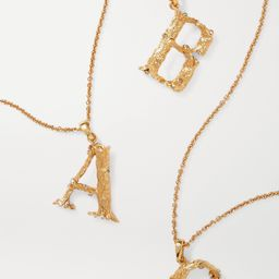 Letter gold-plated crystal necklace   Net-a-Porter (US)
