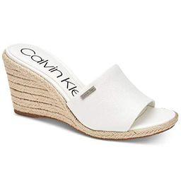 Calvin Klein Women's Britta Wedge Sandals, White Nappa, 7.5 M | Walmart (US)