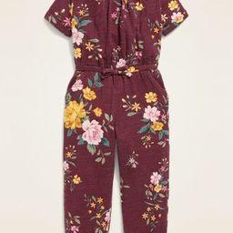 Plush-Knit Floral Jumpsuit for Toddler Girls   Old Navy (US)