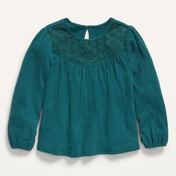 Lace-Yoke Puckered-Jersey Swing Top for Toddler Girls   Old Navy (US)