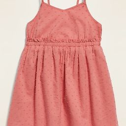 Swiss Dot Fit & Flare Ruffled-Waist Cami Dress for Toddler Girls   Old Navy (US)
