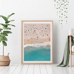 Bondi Beach Framed Print  Aerial Beach Wall Art  Australia | Etsy | Etsy (UK)