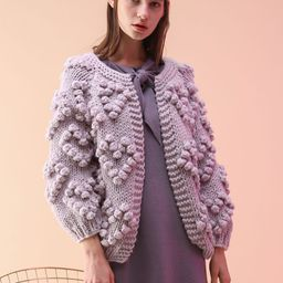 Knit Your Love Cardigan in Lavender   Chicwish