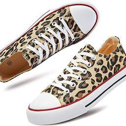 Women's Canvas Shoes Low Cut Canvas Sneaker Casual Walking Shoes | Amazon (US)
