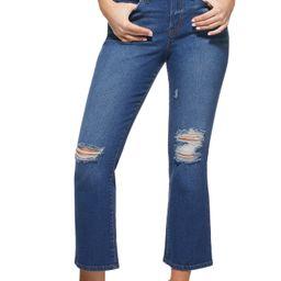 Sofia Jeans by Sofia Vergara Mayra High Waist Destructed Crop Flare Jeans, Women's   Walmart (US)