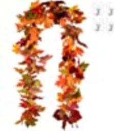 Lvydec 2 Pack Fall Maple Garland - 5.9ft/Piece Artificial Fall Foliage Garland Colorful Autumn De...   Amazon (US)