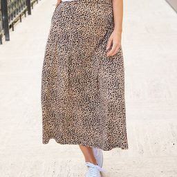 Tickled Teal Women's Casual Skirts Small - Brown Small Cheetah Midi Skirt - Women | Zulily