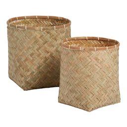Natural Bamboo Becca Basket - Large by World Market | World Market