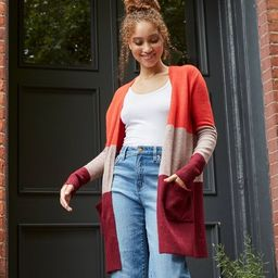 Women's Colorblock Open-Front Cozy Cardigan - A New Day™ | Target