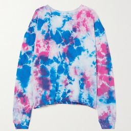 Year of Ours - Tie-dyed Cotton-jersey Sweatshirt - Blue | Net-a-Porter (US)