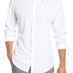 Men's Mizzen+Main Manhattan Trim Fit Shirt, Size Small - White   Nordstrom