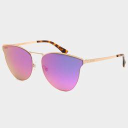 DIFF EYEWEAR Sadie Gold & Purple Mirror Sunglasses | Tillys