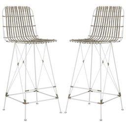 "Darian Bar & Counter Stool Seat Height: Bar Stool (29.5"" Seat Height), Color: White Wash | Wayfair North America"