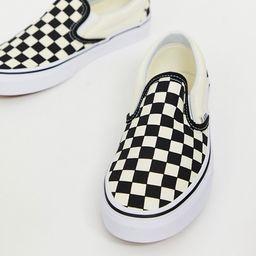 Vans Classic Slip-On checkerboard sneakers | ASOS (Global)