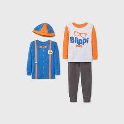 Toddler Boys' 4pc Blippi Pajama Set - Blue/Orange/Gray | Target