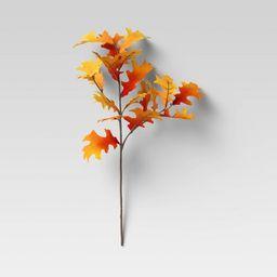 """28"""" Artificial Oak Leaf Stem Orange - Threshold™   Target"""