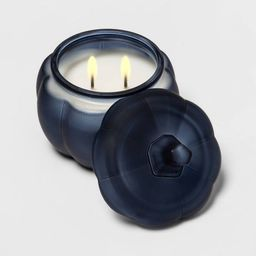 12oz Lidded Frosted Glass Jar 2-Wick Bourbon Pumpkin Candle - Threshold™   Target