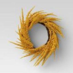 "20"" Artificial Goldenrod Wreath - Threshold™ | Target"