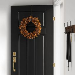 """18"""" Artificial Hops Wreath Gold/Brown - Threshold™ 