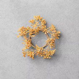 4pc Faux Golden Sedum Greenery Napkin Ring Set - Hearth & Hand™ with Magnolia | Target