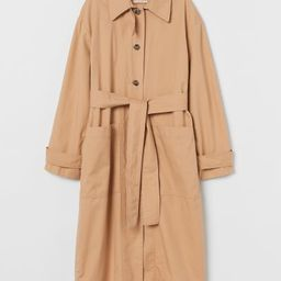 Pima cotton trenchcoat | H&M (UK, IE, MY, IN, SG, PH, TW, HK)