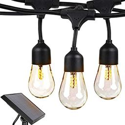 Brightech Ambience Pro - Waterproof, Solar Power Outdoor String Lights - 48 Ft Hanging Edison Bul...   Amazon (US)